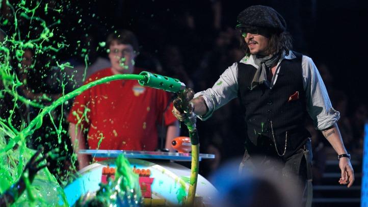 040311 Johnny Depp Kids Choice Awards