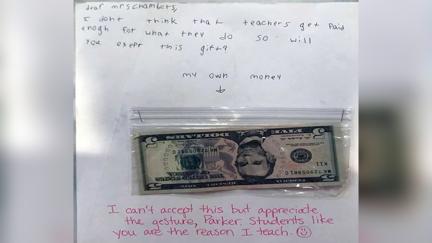 110619 Tampa Teacher Child Birthday Gift Money