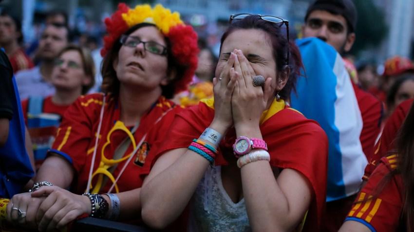 APTOPIX Spain Brazil WCup