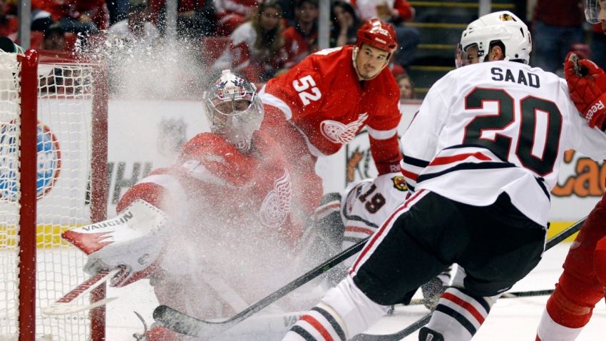 Blackhawks Red Wings Hockey