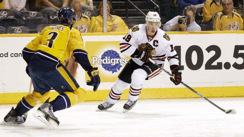 Blackhawks Predators Hockey