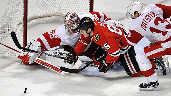 Red Wings Blackhawks Hockey
