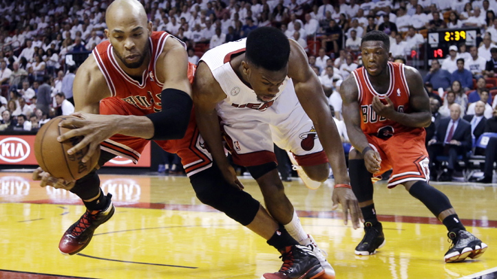 APTOPIX Bulls Heat Basketball