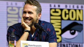 "In this July 21, 2018, file photo, Ryan Reynolds attends the ""Deadpool 2"" panel on day three of Comic-Con International in San Diego."