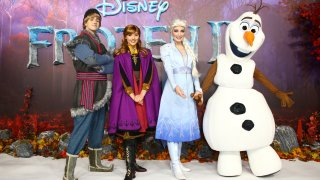 Kristoff, Anna, Elsa and Olaf