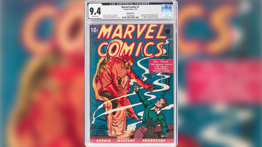 Marvel Comics Book Auction