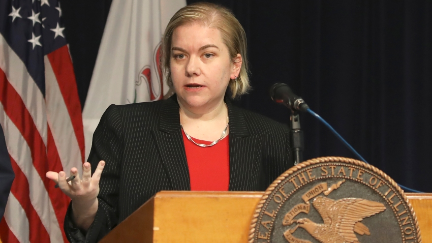Dr. Allison Arwady, Commissioner, Chicago Department of Public Health, speaks at a news conference, Thursday, Jan. 30, 2020, in Chicago.