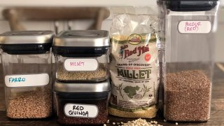 Different whole grains