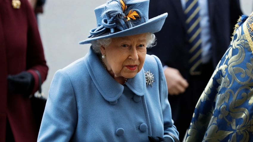 In this Monday, March 9, 2020 file photo, Britain's Queen Elizabeth II arrives to attend the annual Commonwealth Day service at Westminster Abbey in London. In a rare address to the nation taking place Sunday, April 5, Queen Elizabeth II plans to exhort Britons to rise to the challenge of the coronavirus pandemic. The queen will be drawing on wisdom from her decades as Britain's head of state to urge discipline and resolve in a time of crisis.
