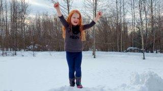 5-year-old Nova Knight of Fairbanks, Alaska.