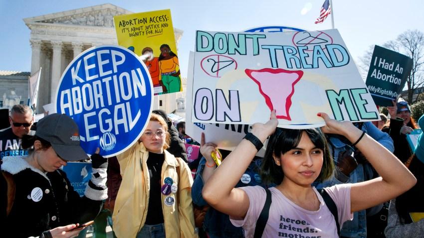 abortion rights demonstrators