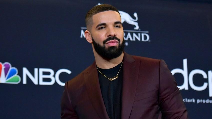 This May 1, 2019 file photo shows Drake at the Billboard Music Awards in Las Vegas.