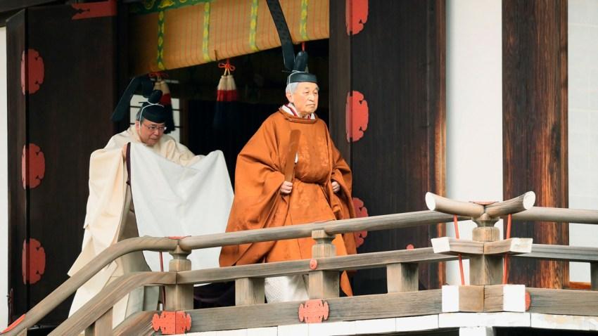 APTOPIX Japan Emperor Abdication