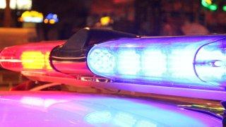 Police lights night
