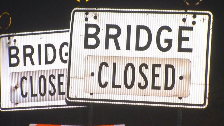 Bridge Closed Generic Bridge Street Sign