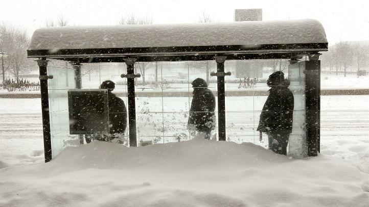 bus stop blizzard