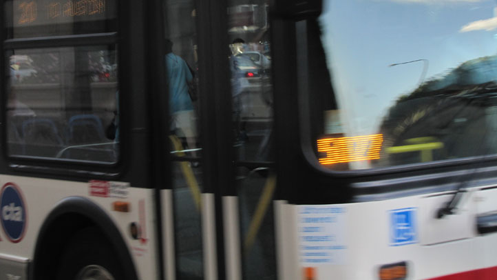 CTA Bus in Motion