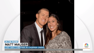 """Matt Mauser mourned the loss of his """"extraordinary"""" wife, Christina, who died in the helicopter crash that also killed Kobe Bryant, his daughter, and six others."""