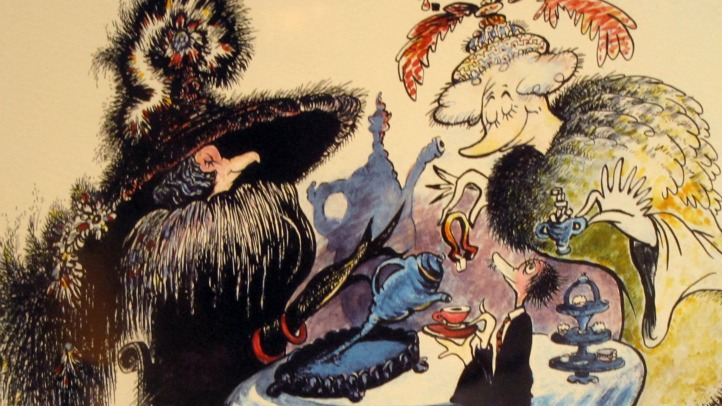 Dr. Seuss Exhibit MSI art two ladies