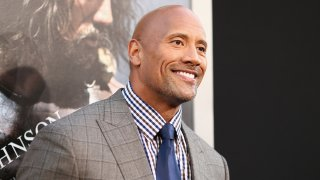 """In this July 23, 2014, file photo, actor Dwayne Johnson attends the premiere of Paramount Pictures' """"Hercules"""" at TCL Chinese Theatre in Hollywood, California."""