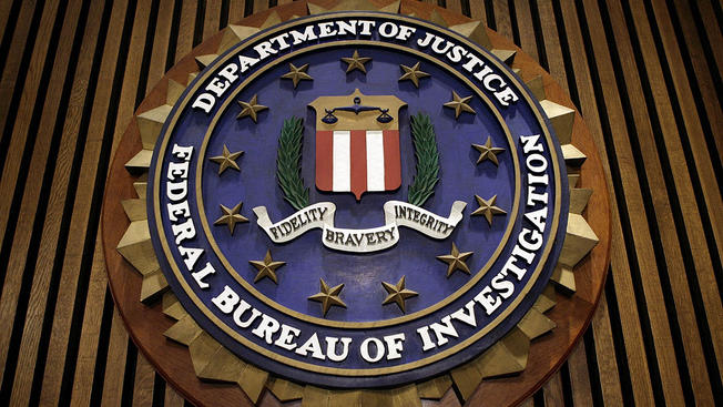 A file photo of the FBI logo.