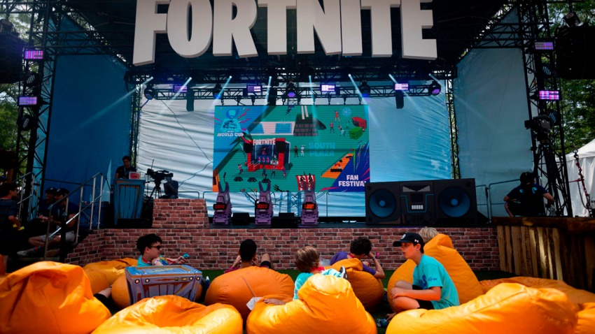 A view from the 2019 Fortnite World Cup Finals, round two on July 27, 2019, at Arthur Ashe Stadium, in New York City.