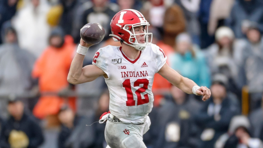 Indiana quarterback Peyton Ramsey throws a pass against Purdue in a 2019 game