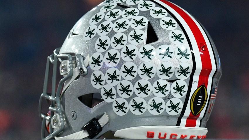 An Ohio State Football Helmet