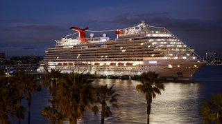 Carnival cruise ship docked in California