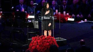 Vanessa Bryant speaking at Kobe and Gianna Bryant's memorial