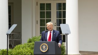 President Donald Trump speaks during an event in the Rose Garden of the White House in Washington, D.C., on June 16, 2020.