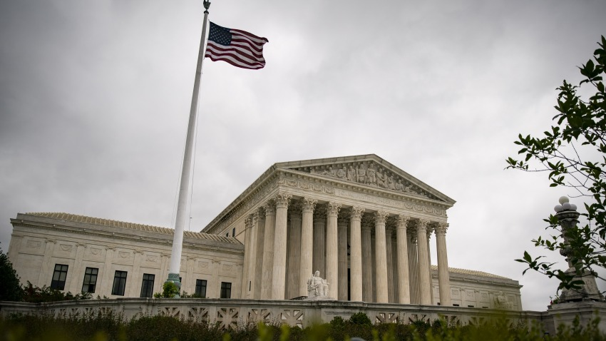 In this June 17, 2020, file photo, the U.S. Supreme Court building stands in Washington, D.C.
