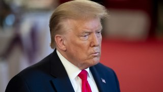 U.S. President Donald Trump attends the 'Spirit of America Showcase' at the White House in Washington, D.C., U.S., on Thursday, July 2, 2020.