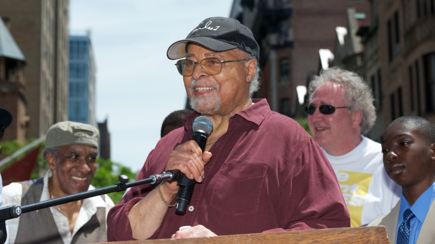 "Jimmy Cobb attends the NYC Block Party Celebrating ""Miles Davis Way"""