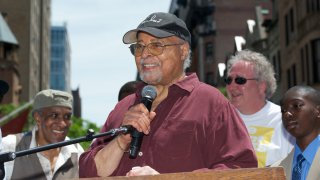 """Jimmy Cobb attends the NYC Block Party Celebrating """"Miles Davis Way"""""""