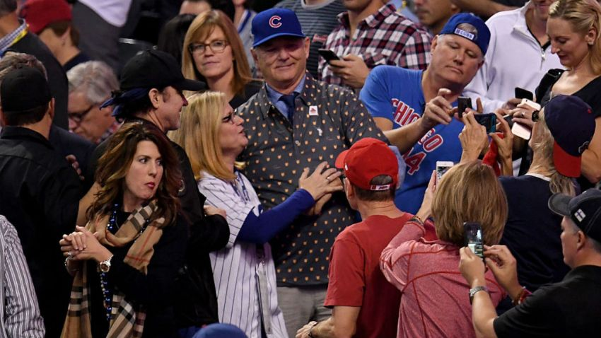 GettyImages-bill murray charlie sheen cubs world series