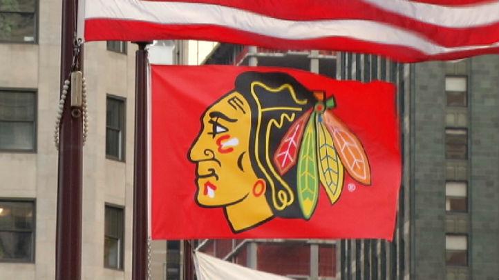 Hawks flag chicago
