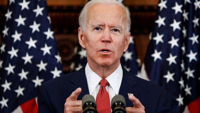 Democratic presidential candidate and former Vice President Joe Biden speaks in Philadelphia, June 2, 2020.
