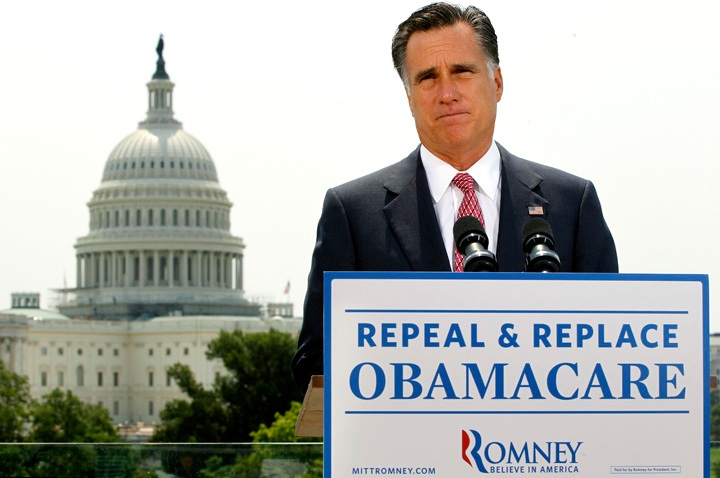 APTOPIX Health Care Romney 2012