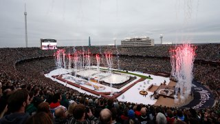 An overview of the 2020 NHL Winter Classic between the Nashville Predators and the Dallas Stars at The Cotton Bowl on Jan. 1, 2020 in Dallas, Texas.