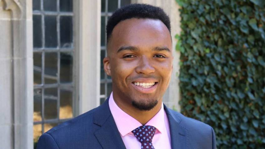Nicholas Johnson became the first black valedictorian in Princeton history.