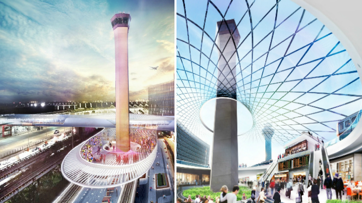 O'Hare Express Rail Renderings