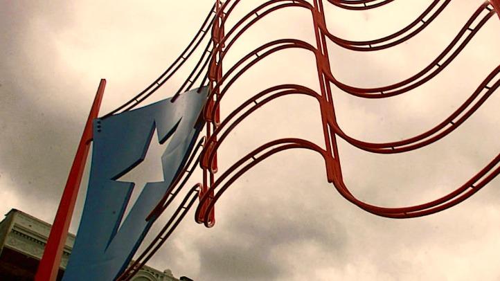 Puerto Rican Flag Sculpture