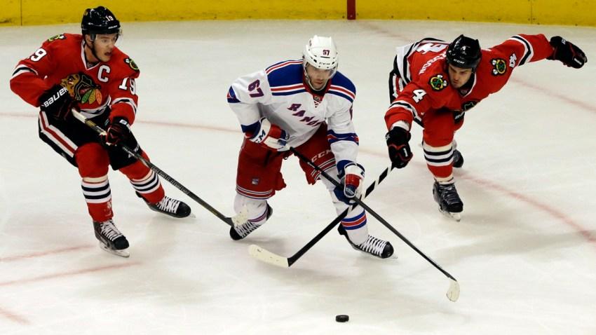 Rangers Blackhawks Hockey