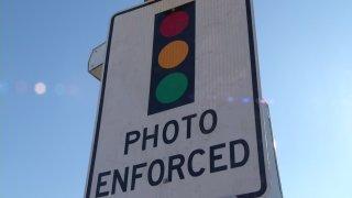 Red Light Camera Sign 010614