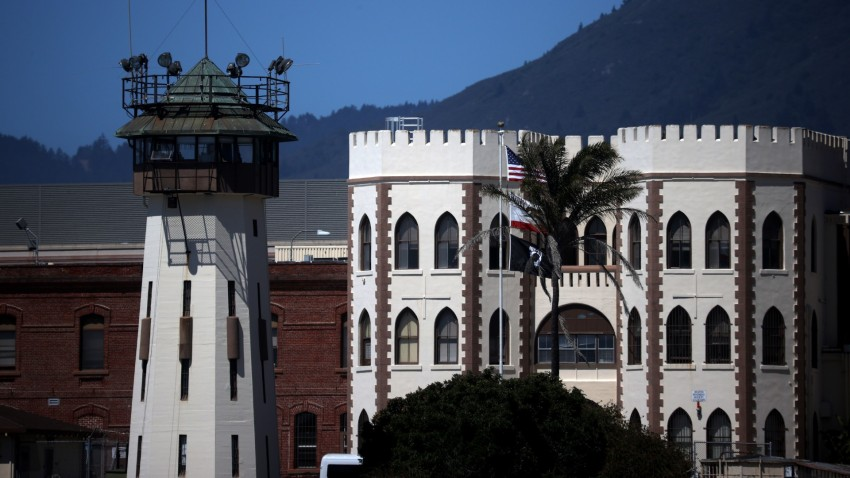 An exterior view of San Quentin State Prison.