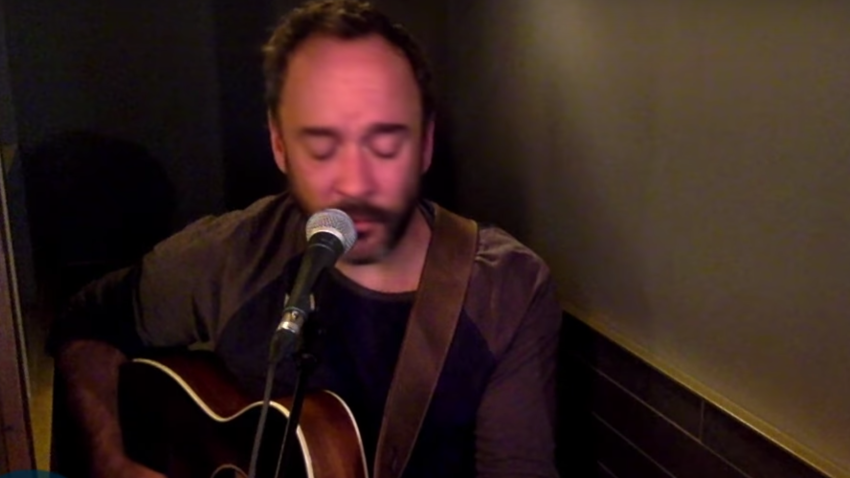 Dave Matthews appeared on Jimmy Kimmel's show.