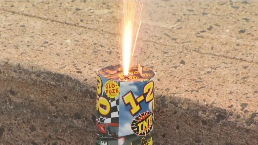 State police give fireworks deonstration
