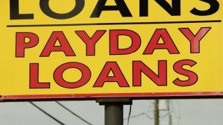 Pancarta de un negocio de préstamos