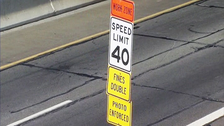 Third Street Tunnel Work Zone Speed Limit Sign Speed Camera